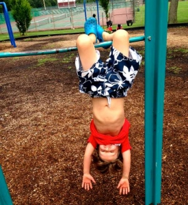 Just Hanging on the Playground