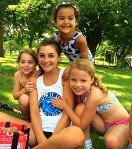 Coach Emma and her campers