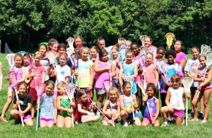 Group of girls after a fun day of lacrosse camp at Sum It Up Lacrosse, NJ